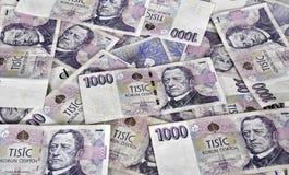 Czech money background Royalty Free Stock Image