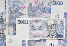 Czech money background Royalty Free Stock Photos