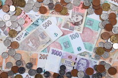 Czech money background Royalty Free Stock Photo