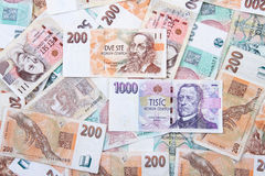 Czech money background Royalty Free Stock Image