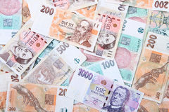 Czech money background Royalty Free Stock Photography