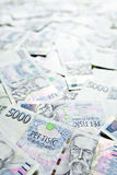 Czech money background Stock Photography
