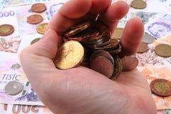 czech money background Royalty Free Stock Photography