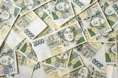 Czech money background Stock Image