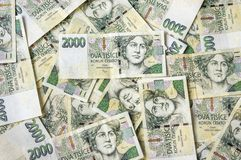 Czech money background Royalty Free Stock Images