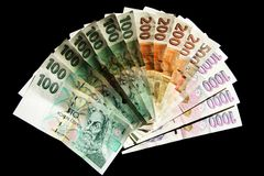 Czech money Stock Image