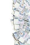 Czech money border Stock Photography