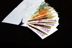 Czech money in an envelope Stock Image