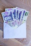 Czech money in envelope Royalty Free Stock Image