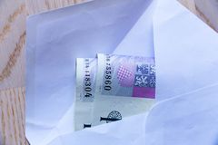 Czech money in envelope Royalty Free Stock Photos