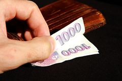 Czech money Stock Photo