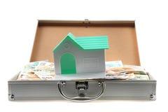 Czech money and house Stock Photos