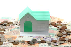 Czech money and house Stock Photography
