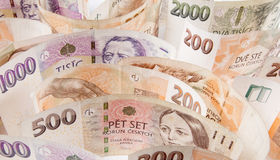 Czech money Stock Images