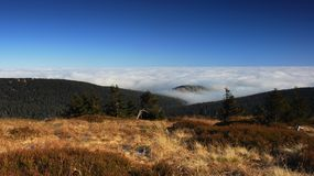 Czech mountains IV., inversion Stock Photography