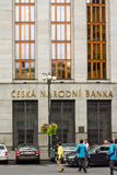 Czech National Bank in Prague close up Royalty Free Stock Image