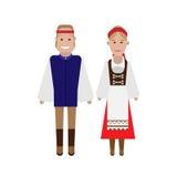 Czech national costume. Illustration of national dress on white background Royalty Free Stock Photography