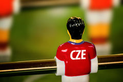 Czech National Jersey on Vintage Foosball, Table Soccer Game Royalty Free Stock Images