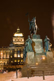 Czech National Museum and statue of St. Wenceslas Stock Images