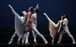 The Czech National Theater ballet troupe Royalty Free Stock Photos