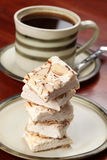 Czech nougat and coffee Stock Photo