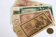 Czech old money Stock Image