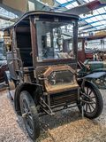 Czech Oldtimer Velox 8-10 HP. PRAGUE, CZECH REPUBLIC - MARCH 8 2017: Czech Oldtimer Velox 8-10 HP in the National Technical Museum of Prague, housing historical Stock Photography