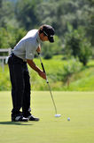 Czech Open 2010, putting golf player Royalty Free Stock Image
