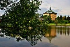 Czech paradise landscape. The rural landscape of the Bohemian Paradise an old castle royalty free stock image