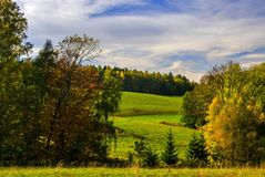 Czech paradise landscape. A sunny summer day in the Czech Paradise Stock Images