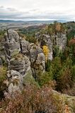 Czech Paradise - sandstone rocks Royalty Free Stock Images