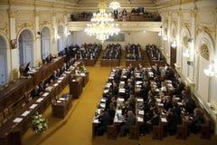 Czech parliament Stock Photography