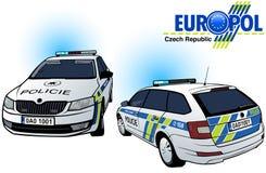 Czech Police Car Stock Photo