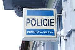 Czech policja Zdjęcie Stock