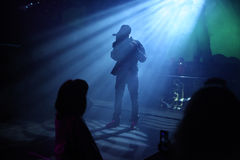 Czech pop singer Samer Issa performs during concert Royalty Free Stock Photography