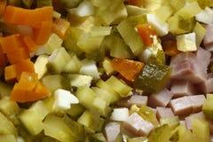 Czech potato salad preparation Stock Photo