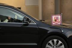 Czech presidential limousine Stock Photos
