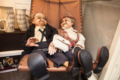 Czech Puppet Couple Stock Images