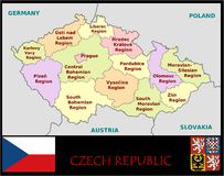 Czech Republic Administrative divisions Stock Image