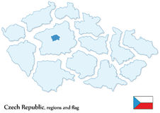 Czech Republic and all regions separated Royalty Free Stock Images