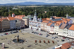 Czech Republic, Budweis, 3 July 2016: Historic centre of Ceske Budejovice, Budweis, Budvar, South Bohe Stock Photos