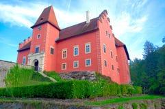 Czech Republic, Cervena Lhota Castle - a view of the lake. Czech Republic, Cervena Lhota Castle, sightseeing,traveling, nobility Stock Image