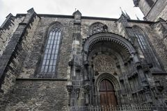 Czech Republic. Church of Our Lady Before Tyn entrance located on Old Town section of Prague stock photography