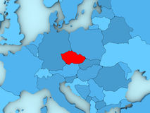 Czech republic on 3D map Stock Photo