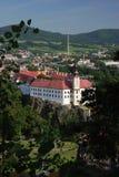 Czech Republic, Decin. Wiev on castle in Decin Stock Images