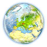 Czech republic on Earth isolated Stock Images