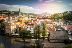 Czech Republic - Europe - Cesky Krumlov. Town stock photos