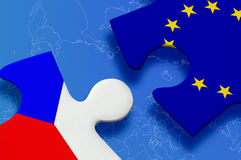 Czech Republic European Union Puzzle Stock Photo