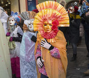 CZECH REPUBLIC - FEBRUARY 7, 2015:  Carnevale Prague 2015 at the Old Town Square Stock Photo
