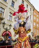 CZECH REPUBLIC - FEBRUARY 7, 2015:  Carnevale Prague 2015 at the Old Town Square Stock Photos